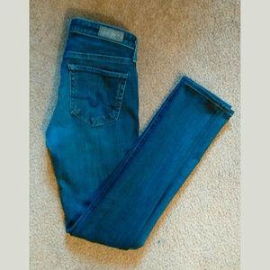 AG Skinny Jeans Mid-Rise Blue Size 24 EUC